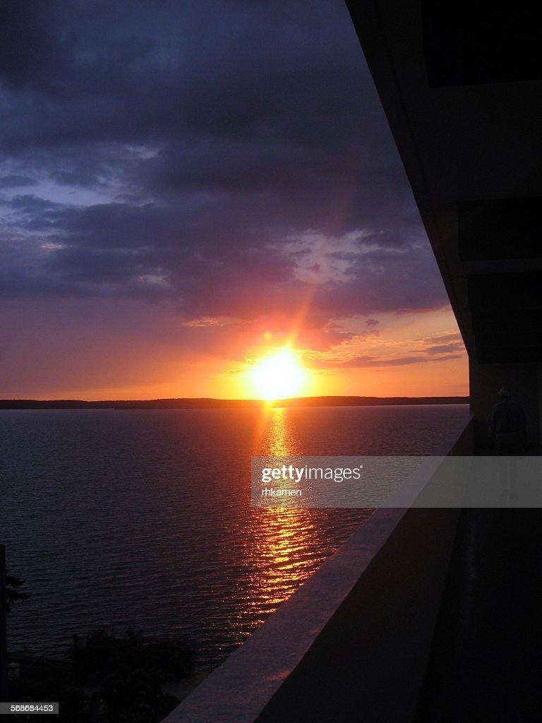 Sunset, Punta Gorda, Cienfuegos, Cuba : Stock Photo