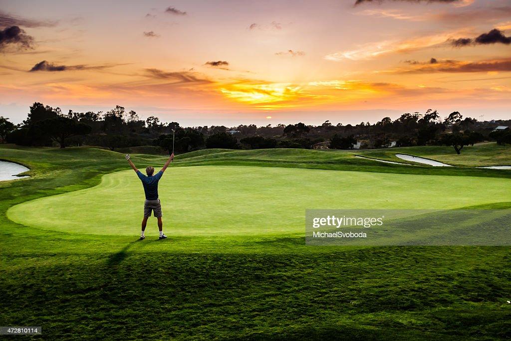 """Sunset-Golfanlage """"Putter Feier : Stock-Foto"""
