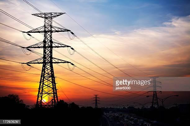 Sunset pylons