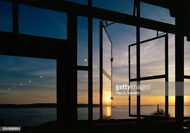Sunset Reflected on Windows