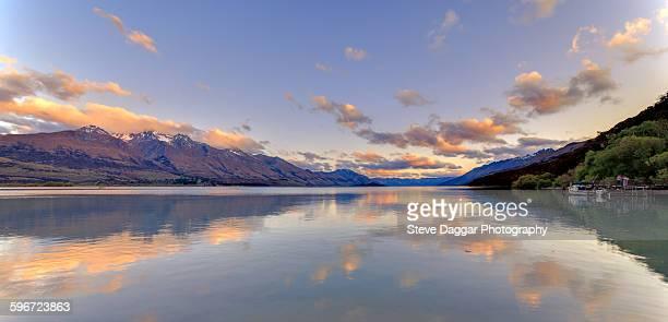 Sunset reflections lake Wakatipu
