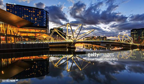 Sunset reflections Melbourne