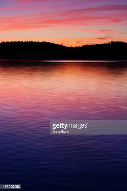 Sunset ripples on Payette Lake in McCall, Idaho