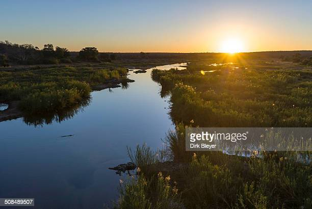 Sunset, river, Kruger National Park, South Africa
