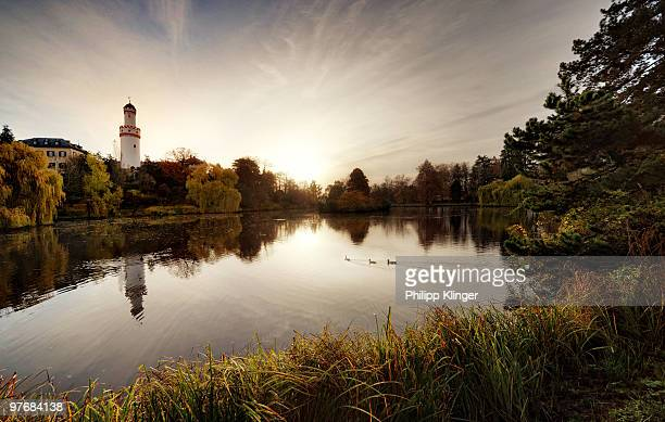 sunset river - bad homburg stock pictures, royalty-free photos & images