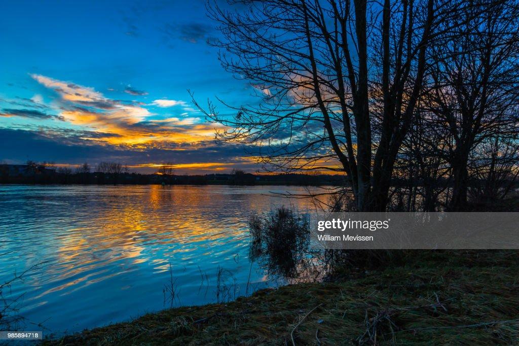 Sunset River : Stockfoto