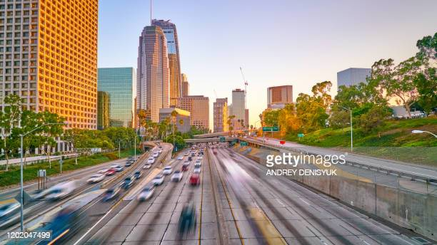 sunset. romantic. high way. los angeles - hollywood boulevard stock pictures, royalty-free photos & images