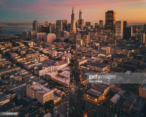 sunset san francisco - san francisco california stock pictures, royalty-free photos & images