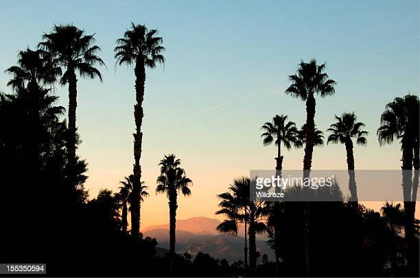 sunset san jacinto mountain palm springs - palm springs california stock pictures, royalty-free photos & images