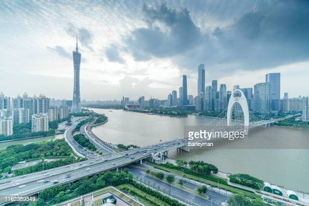 sunset scenery of canton - guangdong province stock pictures, royalty-free photos & images