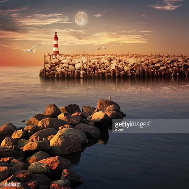 Sunset sea landscape
