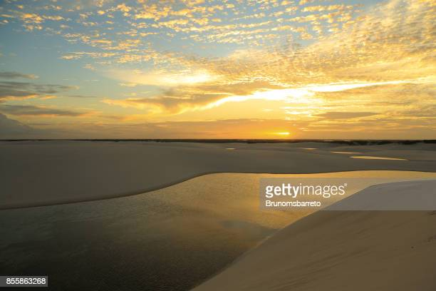 Sunset seen from the top of a dune