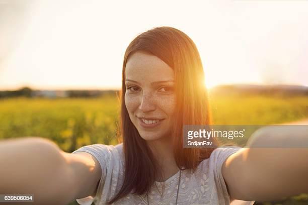 Sonnenuntergang selfie