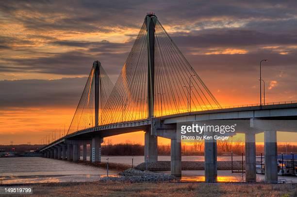 Sunset shot of Cooks birdge over Mississippi