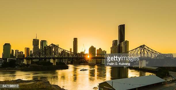 Sunset silhouette in Brisbane, QLD, Australia