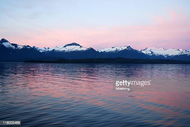 sunset Sitkine ice field, Frederick Sound, Alaska