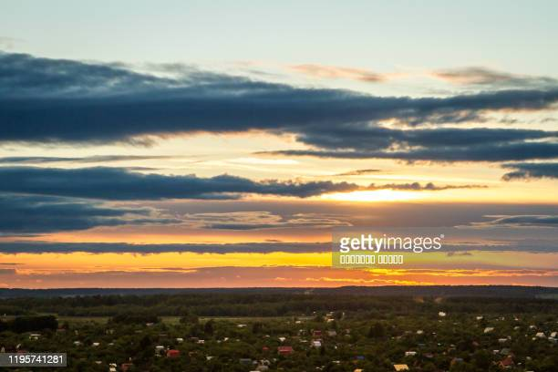 sunset sky at the city - gauteng province stock pictures, royalty-free photos & images