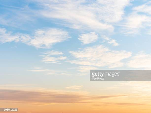 sunset sky background texture - ukraine landscape stock pictures, royalty-free photos & images