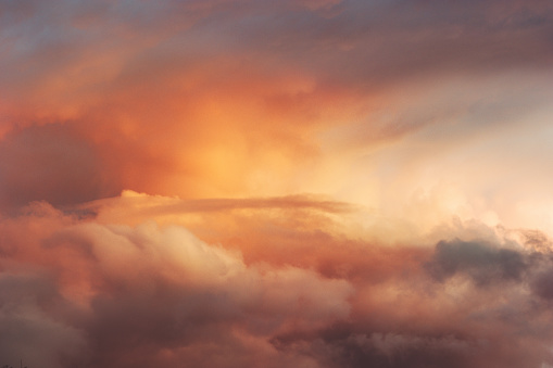 Sunset Sky over clouds Landscape Travel serene tranquil view flying beautiful natural colors 1042576148