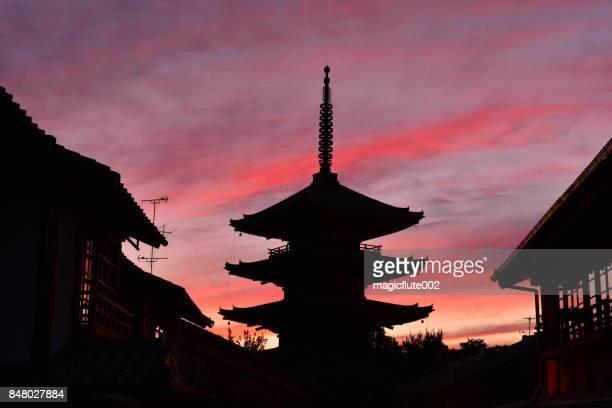 Sunset Sky over Five-story Pagoda of Yasaka, Kyoto