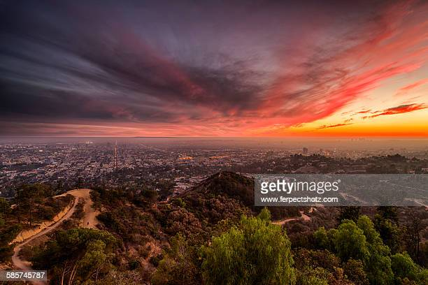 Sunset sky over Los Angeles