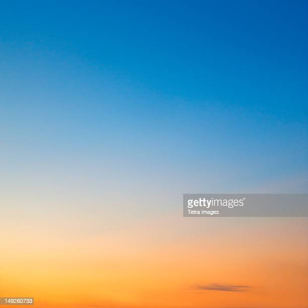 sunset sky - clear sky stock pictures, royalty-free photos & images