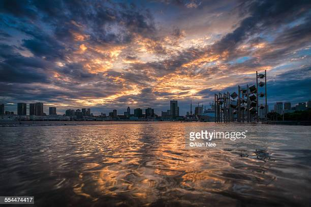 sunset sky taken - nee nee stock photos and pictures