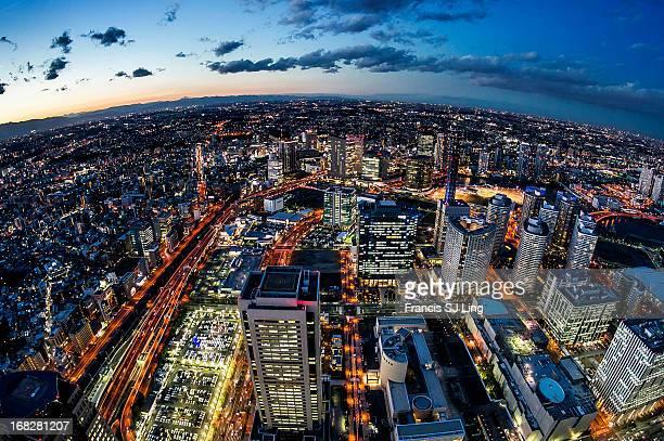 Sunset Skyline in Yokohama City