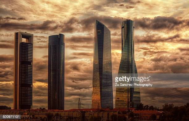 Sunset skyline, Madrid