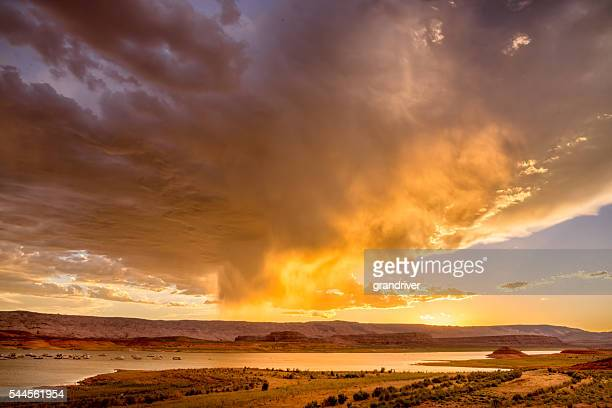 Sunset Skyscape Over Lake Powell