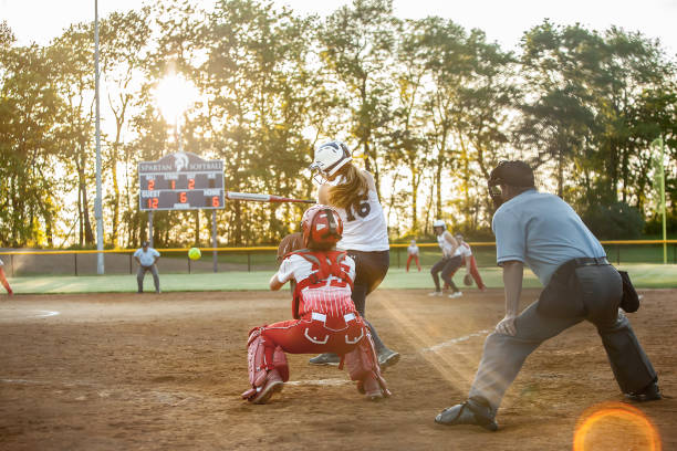 Sunset Softball, single with a flare