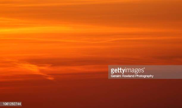 sunset south wales - orange sky stock pictures, royalty-free photos & images