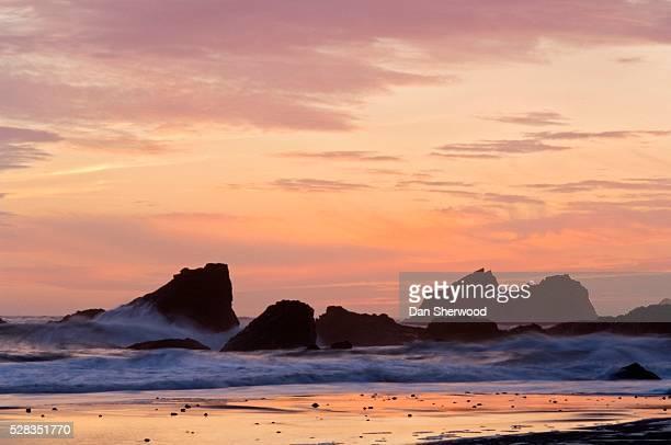 Sunset, Southern Oregon Coast, Harris Beach State Park, Oregon, USA
