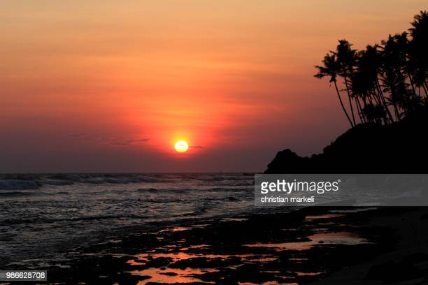 sunset sri lanka south - lanka stock pictures, royalty-free photos & images