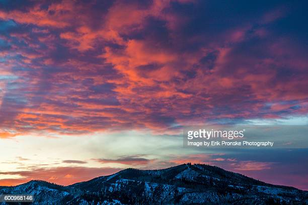sunset, steamboat springs - steamboat springs colorado - fotografias e filmes do acervo