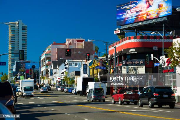 Sunset Strip Street view in West Hollywood, Los Angeles County