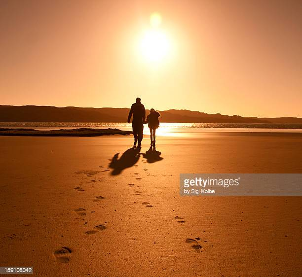 sunset stroll - erongo stock photos and pictures