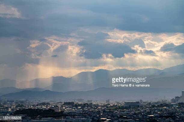 sunset sunbeam on the residential district in kanagawa prefecture of japan - 平塚市 ストックフォトと画像