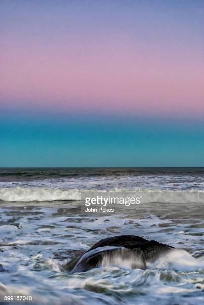 sunset surf at squibnocket beach, martha's vineyard - marthas vineyard stock pictures, royalty-free photos & images