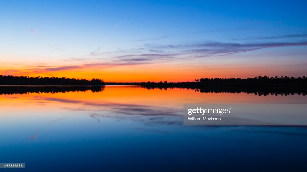 Sunset Symmetry : Stockfoto