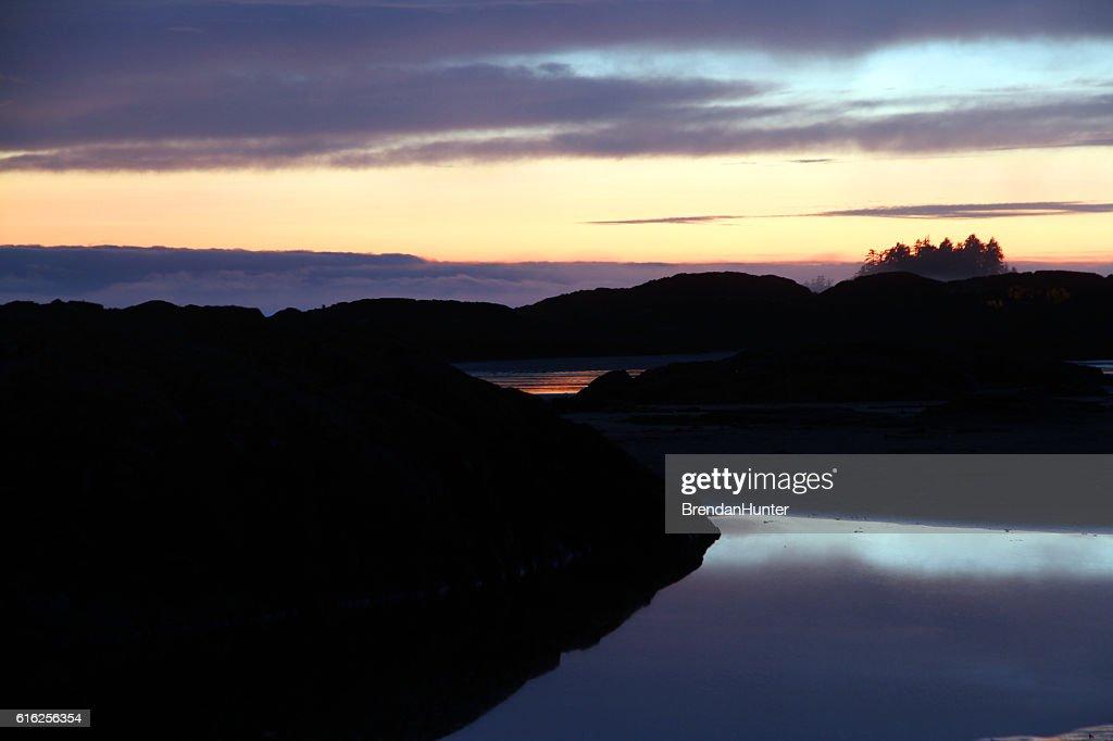 Sunset Tide Pools : Foto de stock