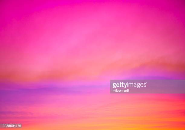 sunset time. dramatic, moody sky - pink colour stock pictures, royalty-free photos & images