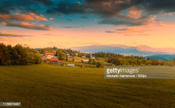 sunset time - bosnien und herzegowina stock-fotos und bilder