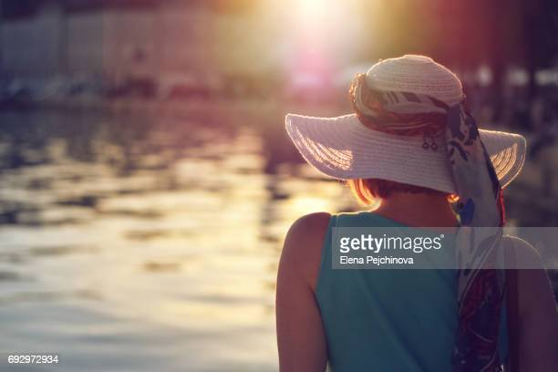 sunset time - adriatic sea stock pictures, royalty-free photos & images