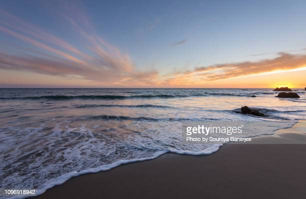 a sunset to remember - malibu beach stock pictures, royalty-free photos & images