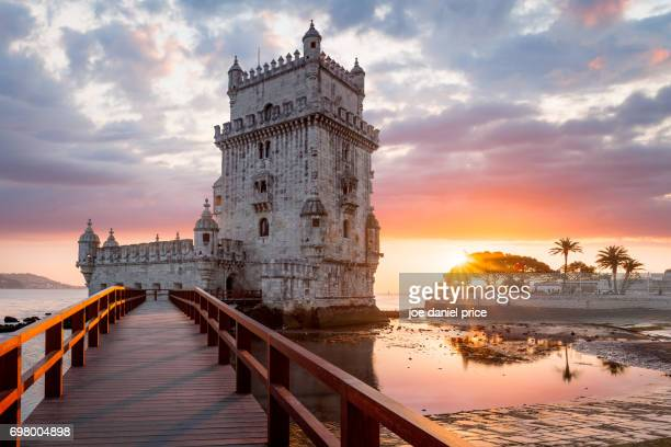 Sunset, Torre Belem, Lisbon, Portugal