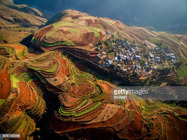 Sunset Valley in Dongchuan Red Land