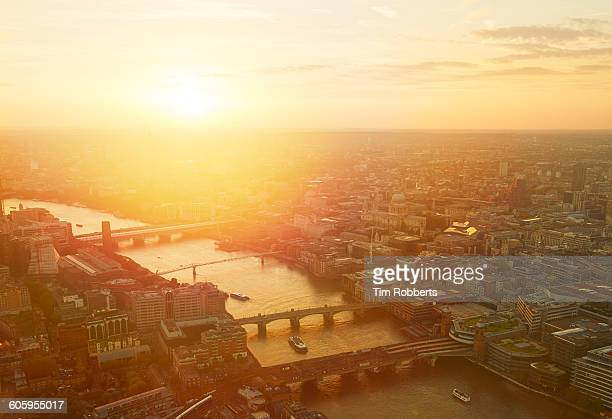 Sunset view across London.