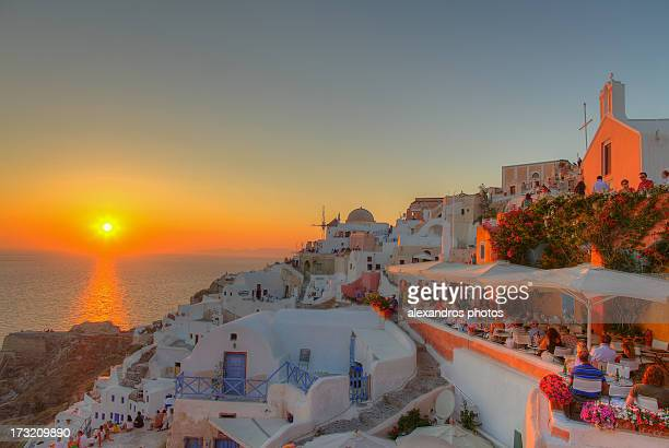 Sunset view from in Santorini