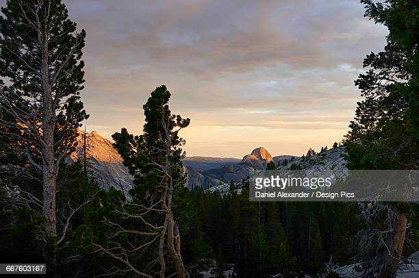 Sunset view from Olmsted Point towards Half dome, Yosemite National Park